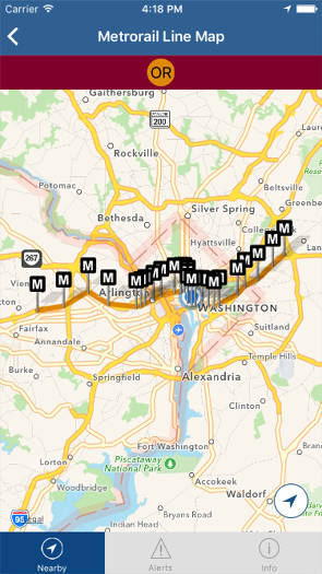 dc mass transit metrorail orange line map
